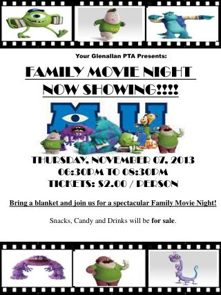 FAMILY MOVIE NIGHT  NOW SHOWING!!!!