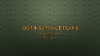 Our Insurance Plans