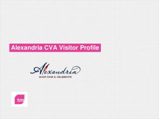 Alexandria CVA Visitor Profile