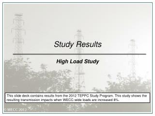 Study Results High Load Study