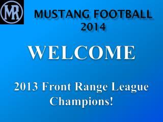 Mustang Football 2014