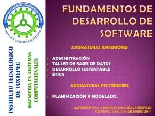 Fundamentos de desarrollo de software
