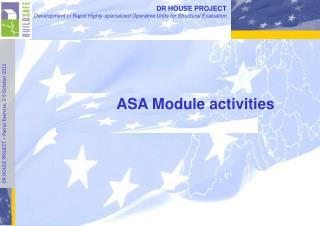 ASA Module activities