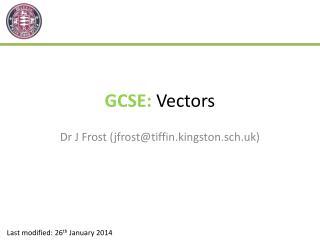 GCSE:  Vectors