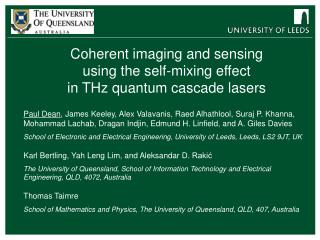 Coherent imaging and sensing using the self-mixing effect in THz quantum cascade lasers