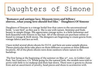 Daughters of Simone
