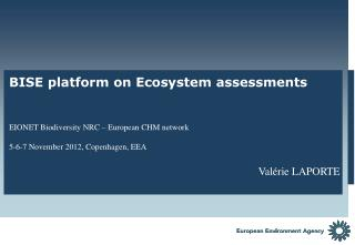 The need for an information platform on ecosystem assessment in Europe
