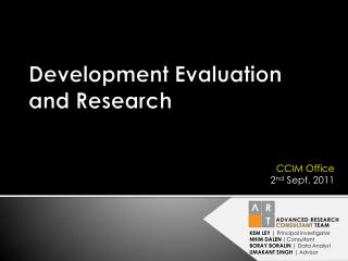 Development Evaluation  and Research