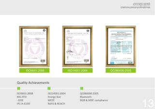 Quality Achievements
