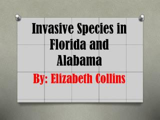 Invasive Species in Florida and Alabama