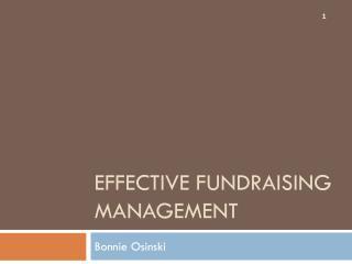 Effective Fundraising Management