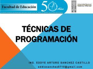 TÉCNICAS DE Programación