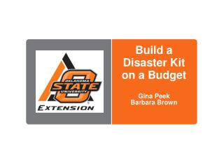 Build a Disaster Kit on a Budget