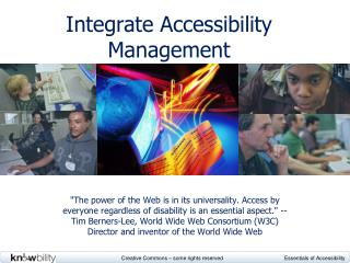 Integrate Accessibility Management
