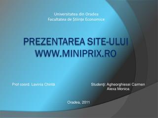 Prezentarea  site- ului  miniprix.ro