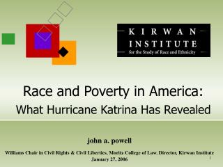 Race and Poverty in America: What Hurricane Katrina Has Revealed