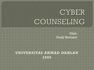 CYBER COUNSELING