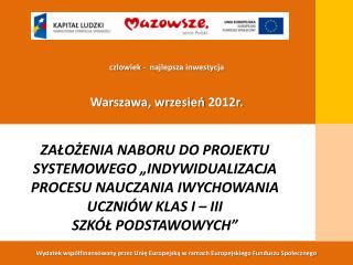 Wydatek współfinansowany przez Unię Europejską w ramach Europejskiego Funduszu Społecznego