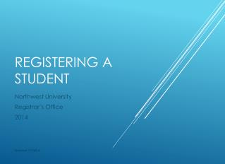 Registering A Student