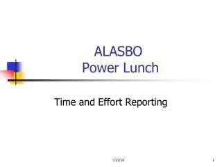 ALASBO  Power Lunch