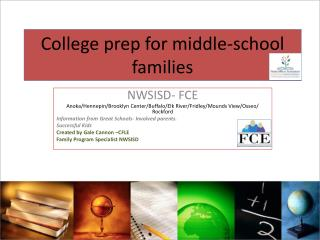 College prep for middle-school families