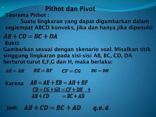 Pithot dan Pivot