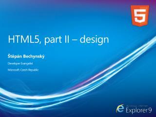 HTML5, part II – design