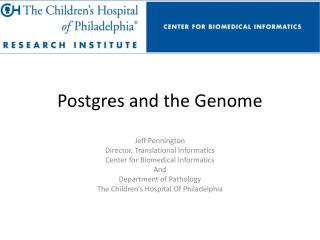 Postgres  and the Genome