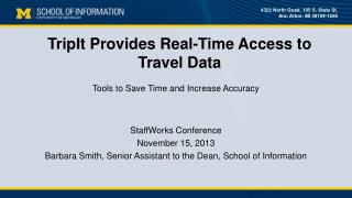 TripIt  Provides Real-Time Access to  Travel Data