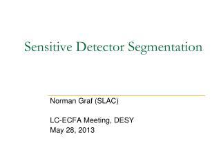 Sensitive Detector Segmentation