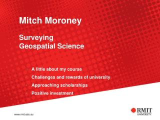 Mitch Moroney Surveying Geospatial Science