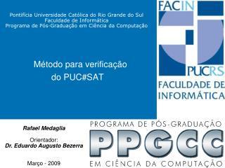 Método para verificação do PUC#SAT