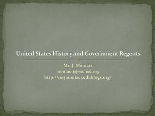 United States History and Government Regents