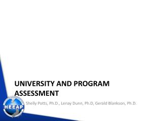 University and Program Assessment