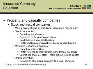Insurance Company Selection