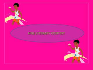 HOLI LITERARY CONTEST