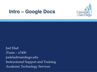 Intro – Google Docs