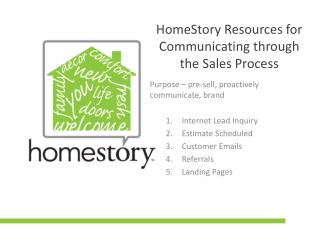 HomeStory Resources for Communicating through the Sales Process