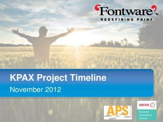 KPAX Project Timeline