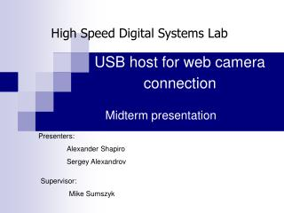USB host for web camera connection