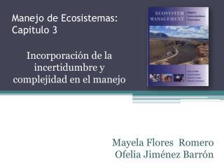 Manejo de Ecosistemas:  Capitulo 3