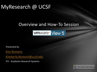 MyResearch @ UCSF