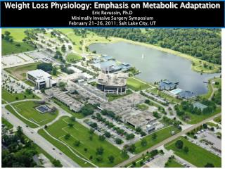 Weight Loss Physiology: Emphasis on Metabolic Adaptation Eric Ravussin,  Ph.D