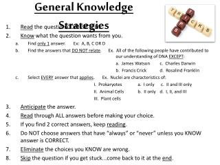 General Knowledge  Strategies
