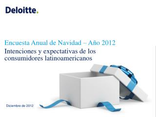 Encuesta Anual de Navidad – Año 2012