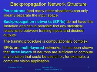 Backpropagation  Network Structure