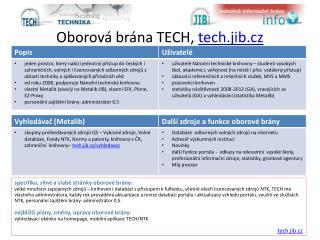 Oborová brána TECH,  tech.jib.cz