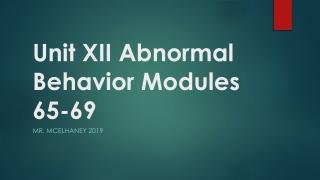 Models of Abnormal Behavior Chapter 2