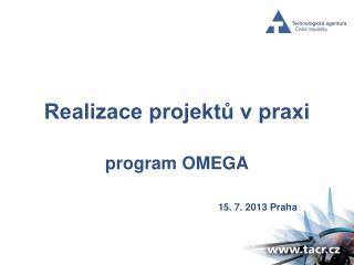 Realizace projektů v praxi