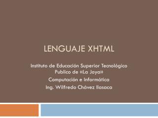 Lenguaje XHTML